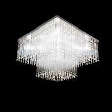 Lustre Cristal Original e Vidro Square para 9 Lâmpadas G9