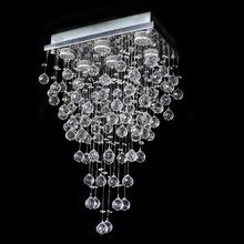 Lustre de Cristal Retangular Fukuoka para 6 Lâmpadas GU10