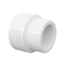 """Luva de Redução Branca PVC Roscável 32x25mm ou 1""""x3/4"""" Tigre"""