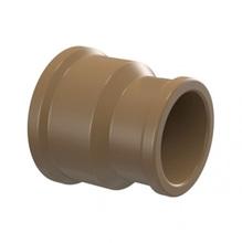 """Luva de Redução Marrom PVC Soldável 32x25mm ou 1""""x3/4"""" Plastilit"""