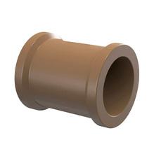 "Luva Marrom PVC Soldável 50mm ou 1.1/2"" Plastilit"