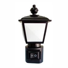 Luz Noturna LED Keywest Redondo Plástico Preto Bivolt