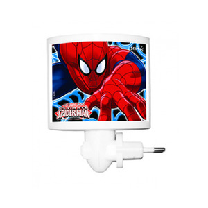Luz Noturna Startec Spider Man Retangular Acrílico/Papel Colorido Bivolt