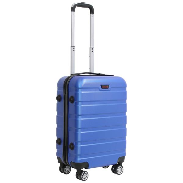 Mala De Viagem Rigida Em Abs 4 Rodinhas 360º Com Cadeado Azul