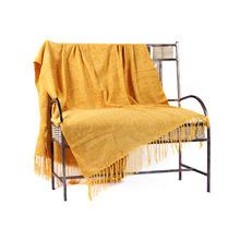 Manta Chenille Amarela 1,20x1,80m Mello