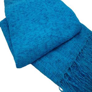 Manta Decorativa Chenile Azul Turquesa 1,20x1,80m