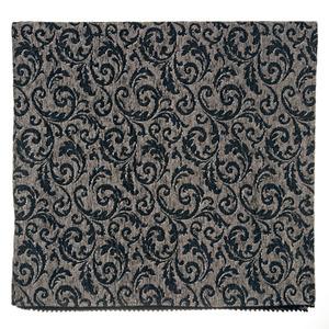 Manta Decorativa Chenille Arabesco Cinza 1,40x1,50m