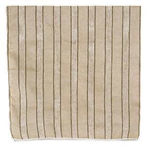 Manta Decorativa Chenille Listrada Marfim 1,40x1,50m