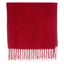 Manta Decorativa Chenille Vermelha 1,20x1,80m