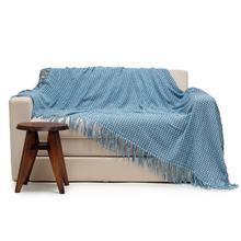 Manta Decorativa Pied de Poule Azul 2,00x2,20m