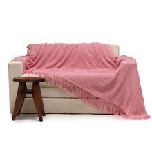 Manta Decorativa Pied de Poule Rosa 2,00x2,20m