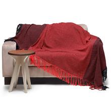 Manta Decorativa Silvia Vermelha 2,00x2,20m