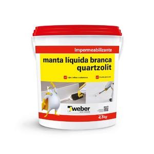 Manta Líquida Branca 4,5L Quartzolit