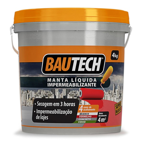 Manta l quida impermeabilizante branco 4kg bautech leroy for Guaina liquida leroy merlin