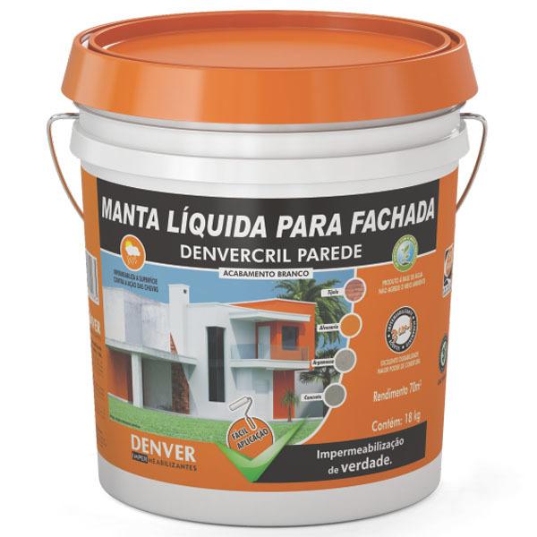 Manta l quida impermeabilizante denvercril parede branco - Impermeabilizante para paredes ...