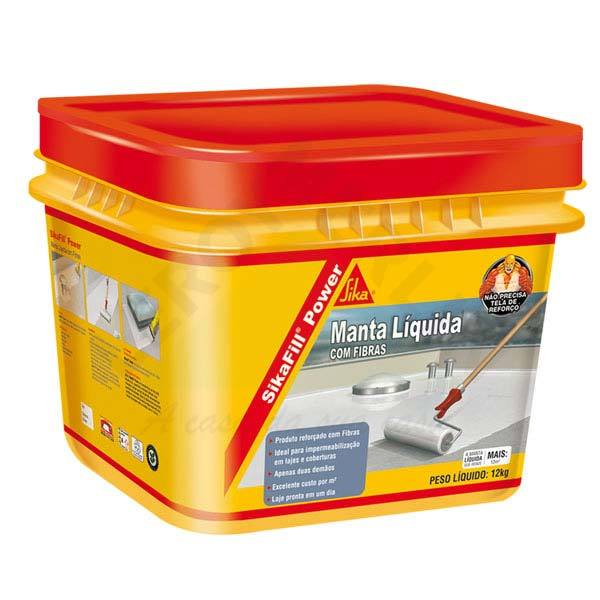 Manta l quida impermeabilizante sikafill power cinza 12kg - Impermeabilizante para paredes ...