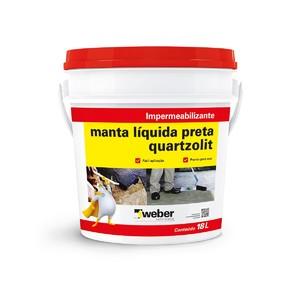 Manta Líquida Preta 18kg Quartzolit
