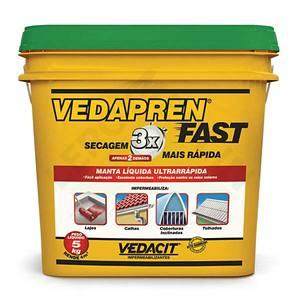 Manta Líquida Vedapren Fast Verde 5Kg Vedacit