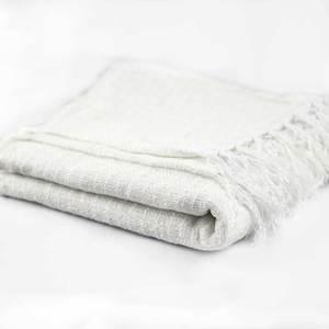 Manta Para Sofá De Chenille Branco | Leroy Merlin