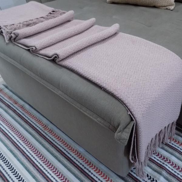 Manta Para Sofá Rosa Seco Em Algodão 1 20x2 00 Leroy Merlin