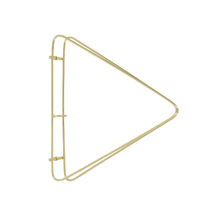 Mão Francesa Industrial Dourada 20cm Comfort Design Zamar
