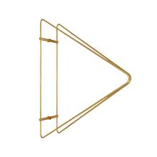 Mão Francesa Industrial Dourada 25cm Comfort Design Zamar