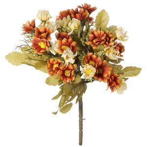 Margarida Mini Creme Laranja 29cm Flor Arte