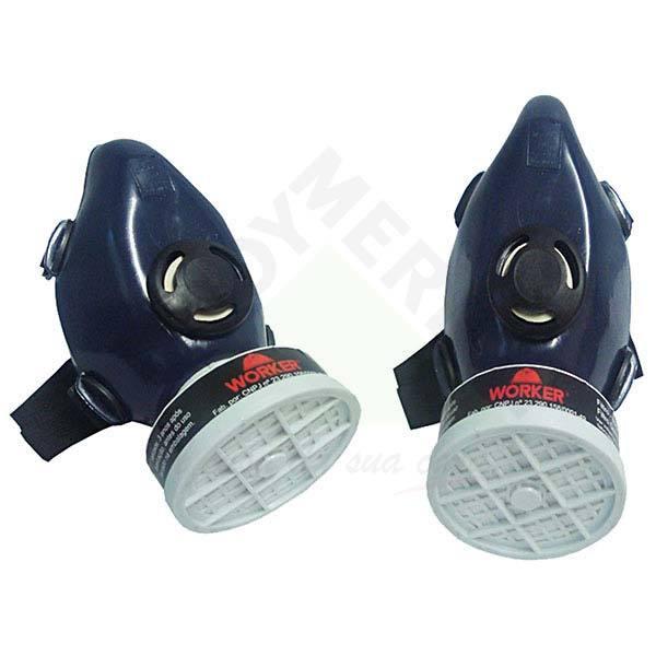 b9e586d3a274b Respirador para Gases Ácidos Semi Facial com 1 Filtro Worker