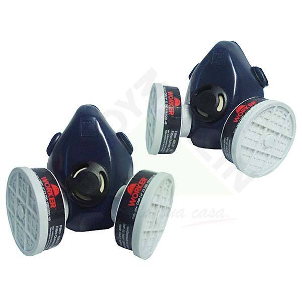 Máscara respiratória Gases ácidos WORKER · Respirador para Amônia Semi  Facial com 2 Filtros Worker 7594741fdb
