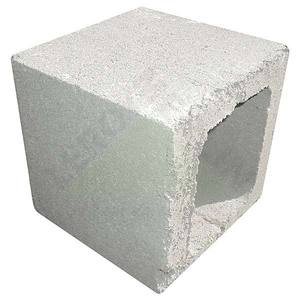Meio bloco de Concreto Estrutural 19x19x19cm Haza