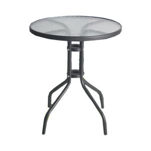 Mesa aco/vidro 60cm pt