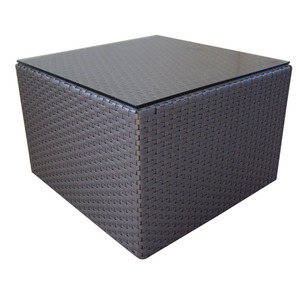 Mesa Brasil Alumínio/Fibra Sintética Centro 59x59cm Marrom Outdoor