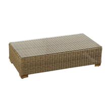 Mesa de Apoio Alumínio/Fibra Sintética Retangular Trevarez Bege 30x60x120cm