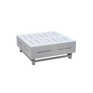 Mesa de Apoio Alumínio Quadrada Chambord Branca 31x80x80cm