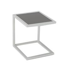 Mesa de Apoio Alumínio Quadrada Lisboa Branca 40x45x45cm
