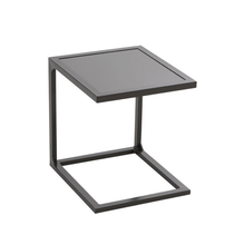 Mesa de Apoio Alumínio Quadrada Lisboa Marrom 60x60x40cm