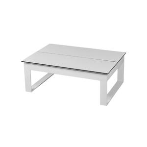 Mesa de Apoio Alumínio Retangular Tulherias Branca 46x80x120cm