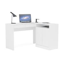 Mesa de Computador 75,5x107,2x37,5cm Madeira Branco Bahamas Politorno