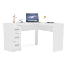 Mesa de Escritório 75,5x113,9x41,5cm Madeira Branco Fênix Politorno