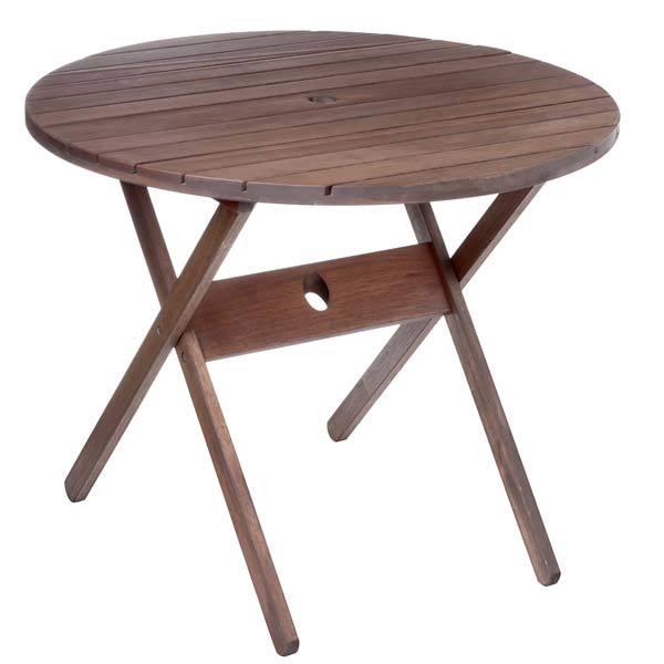 Mesa madeira dobr vel redonda nogueira 74x90cm leroy merlin - Mesa camilla redonda leroy merlin ...