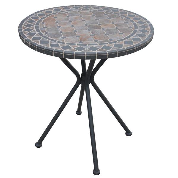 Mesa a o redonda mosaico preta 73x70cm leroy merlin - Mesa camilla redonda leroy merlin ...