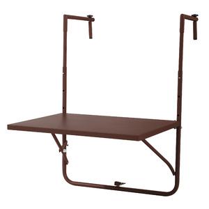Mesa para Varanda Aço 57,50x45cm Marrom Importado