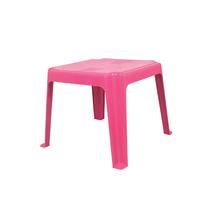 Mesa Plástico Infantil 45x45x45cm Rosa