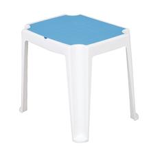 Mesa Plástico Vice e Versa Azul e Branca 62x58x72cm