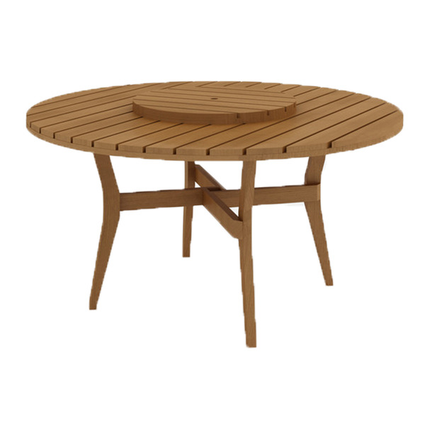 Mesa madeira redonda quarter centro girat rio jatob for Mesas con sombrilla para exterior