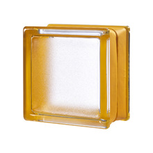 Mini Bloco de Vidro Clássico Laranja 14,6x14,6x8cm Seves