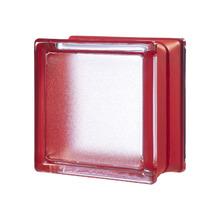 Mini Bloco de Vidro Clássico Vermelho 14,6x14,6x8cm Seves