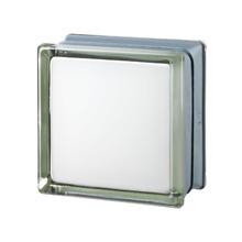 Mini Bloco de Vidro Futurista Branco 100% 14,6x14,6x8cm Seves