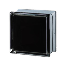 Mini Bloco de Vidro Futurista Preto 100% 14,6x14,6x8cm Seves