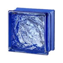 Mini Bloco de Vidro Sofisticado Azul 14,6x14,6x8cm Seves